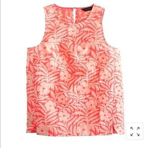 JCrew NWT Seamed Shell in plumeria jaquard, size 4